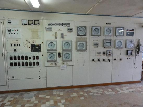 Щит управления печью обжига до модернизации