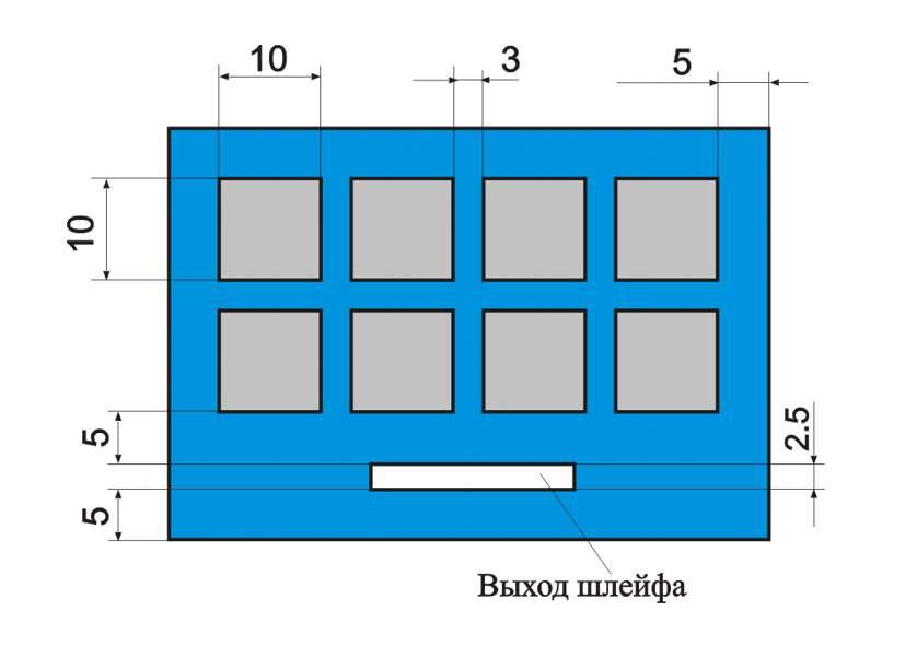 Размеры и зазоры для проектировки клавиатуры